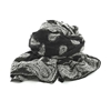 Picture of Black Paisley Classic Scarf