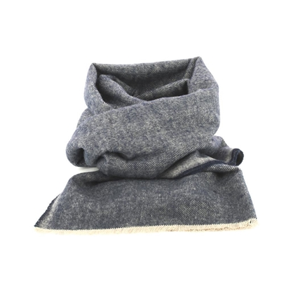 Picture of Blue & Grey Cotton Scarf