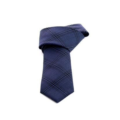 Picture of Blue Checked Wool Tie - 7 cm. wide