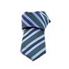 Picture of Blue/Green Regimental Silk Tie - 8 cm. wide