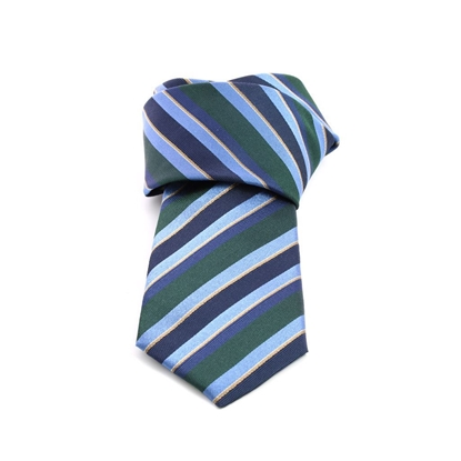 Picture of Blue/Green Regimental Silk Tie - 8 cm. wide