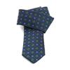 Picture of Blue Little Flowers Jacquard Silk Tie - 7 cm. wide