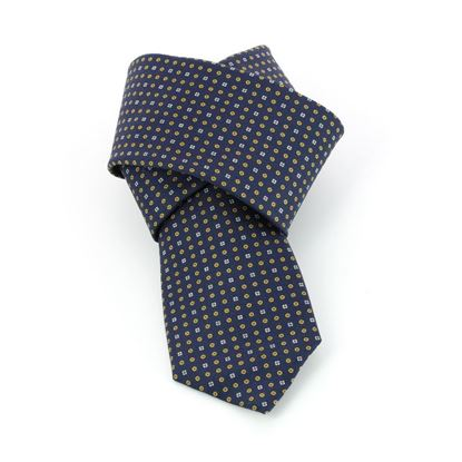 Picture of Blue Micro Patterned Silk Tie - 7 cm. wide