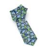 Picture of Blue/Light Blue/Green Flowers Silk Tie - 7 cm. wide