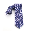 Picture of Blue/White/Violet Flowers Silk Tie - 7 cm. wide