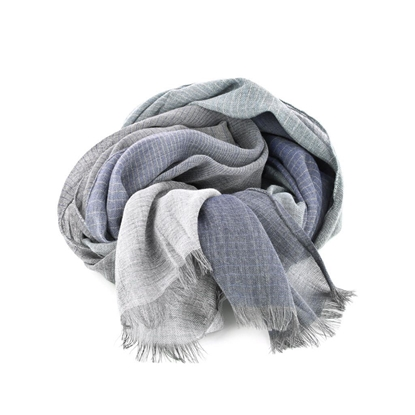 Picture of Blue & Grey Colors Stripes Scarf