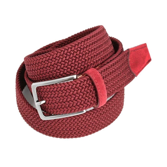 Picture of Bordeaux Braided Belt - 3,5 cm. wide