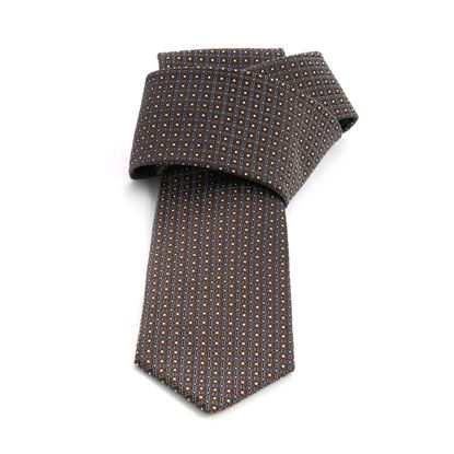 Picture of Brown Micro Patterned Jacquard Silk Tie - 7 cm. wide