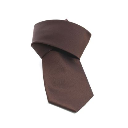 Picture of Brown Silk Tie - 8 cm. wide