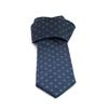 Picture of Classic Blue Micro Patterned Jacquard Silk Tie - 8 cm. wide