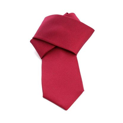 Picture of Classic Red Polka Dot Silk Tie - 7 cm. wide