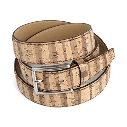 Picture of Cork Wood & Leather Belt - 3,5 cm. wide