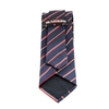 Picture of Dark Blue Regimental Jacquard Silk Tie - 7 cm. wide