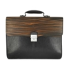 Picture of Ebony Wood & Black Leather Briefcase - One Compartment