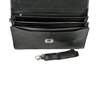 Picture of Ebony Wood & Black Leather Briefcase - Three Compartments