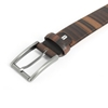 Picture of Ebony Wood & Leather Belt - 3 cm. wide
