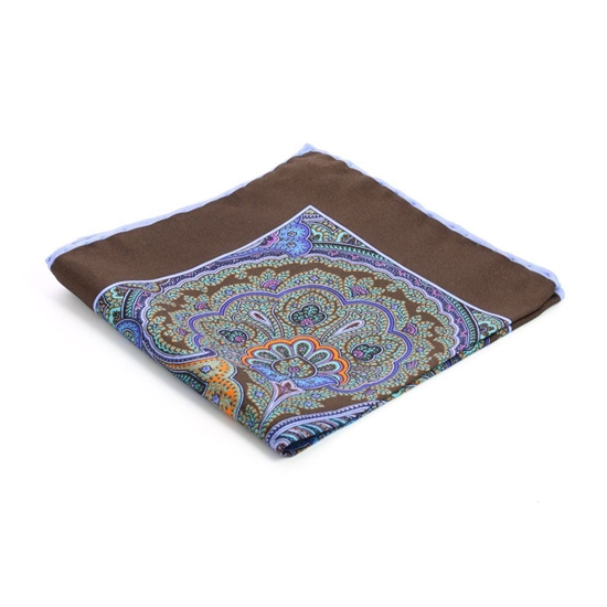 Picture of Rimmed Paisley Silk Handkerchief