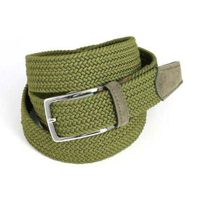 Picture of Green Braided Belt - 3,5 cm. wide