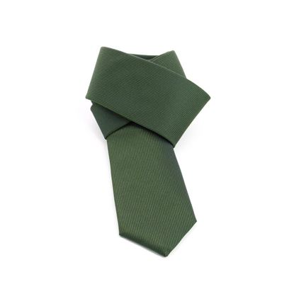 Picture of Green Striped Silk Tie - 7 cm. wide