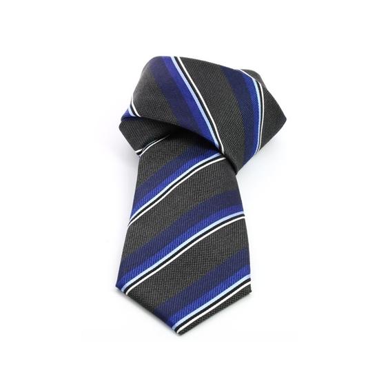 Picture of Grey/Blue Regimental Silk Tie - 8 cm. wide