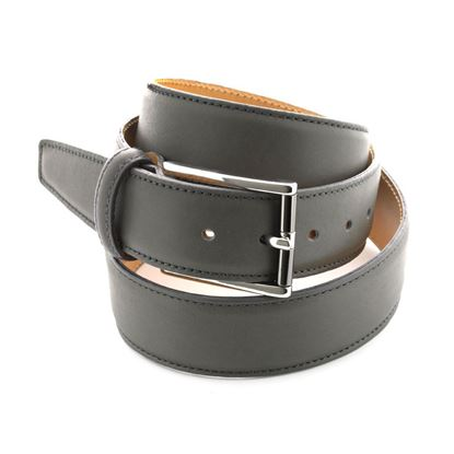Picture of Grey Nappa Soft Calf Leather Belt - 3,5 cm. wide