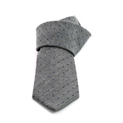 Picture of Grey Polka Dot Silk Tie - 8 cm. wide