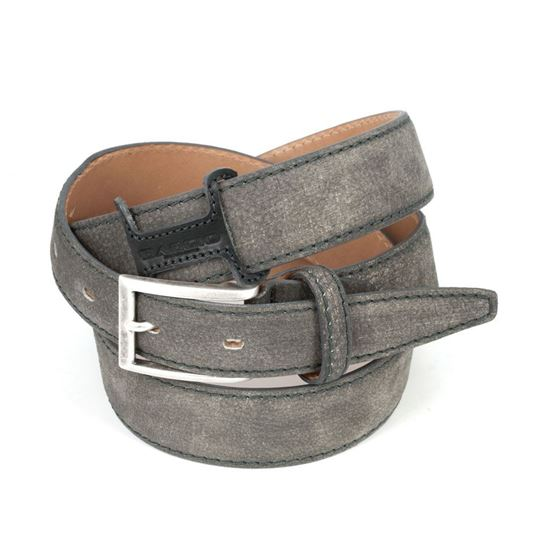 Picture of Grey Vintage Shaped Calf Leather Belt
