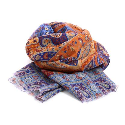 Picture of Patterned Wool Scarf
