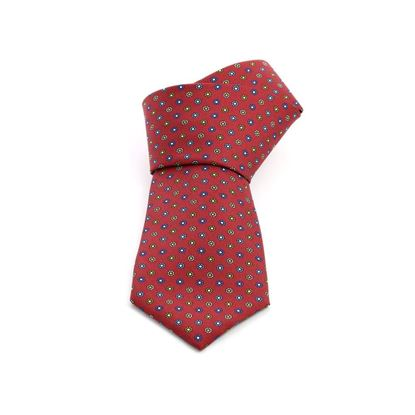Picture of Red Micro Patterned Silk Tie - 8 cm. wide