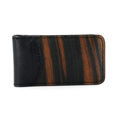 Picture of Wood & Leather Bill Clip