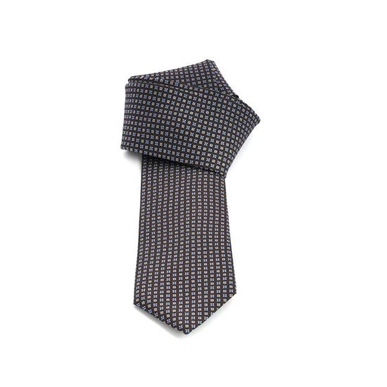 Picture of Brown Micro Patterned Silk Tie - 7 cm. wide