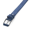 Picture of Mid Blue Alcantara Belt - Double Loops - 3,5 cm. wide
