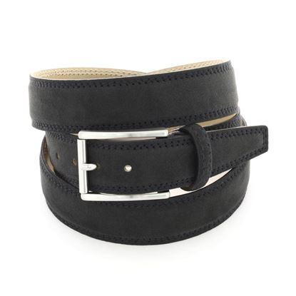 Picture of Black Alcantara Belt - 3 cm. wide