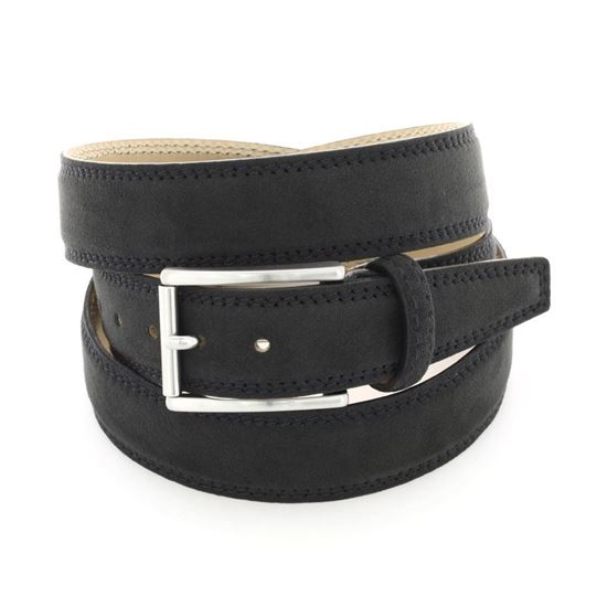 Picture of Black Alcantara Belt - 3 cm. wide