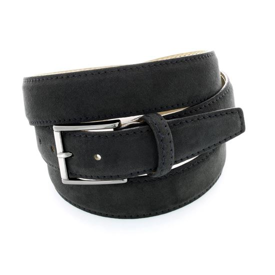 Picture of Black Alcantara Belt - 3,5 cm. wide