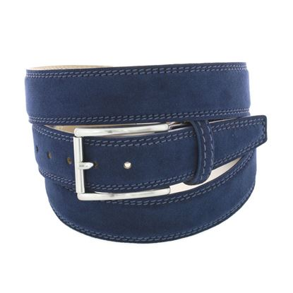 Picture of Blue Alcantara Belt - 3 cm. wide