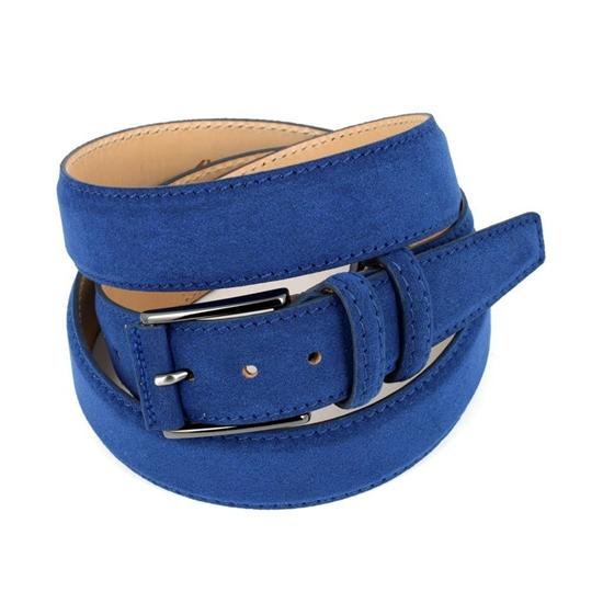 Picture of Bluette Alcantara Belt - Double Loops - 3,5 cm. wide