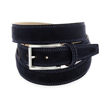 Picture of Dark Blue Alcantara Belt - 3 cm. wide