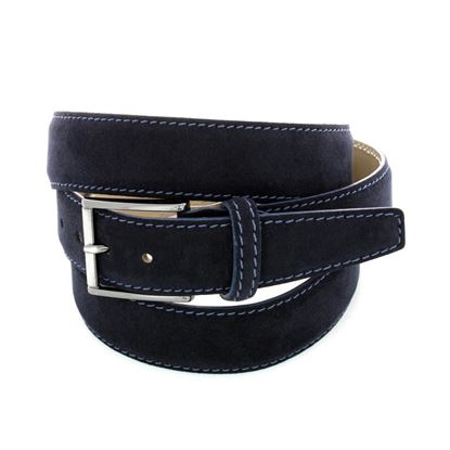 Picture of Dark Blue Alcantara Belt - 3,5 cm. wide