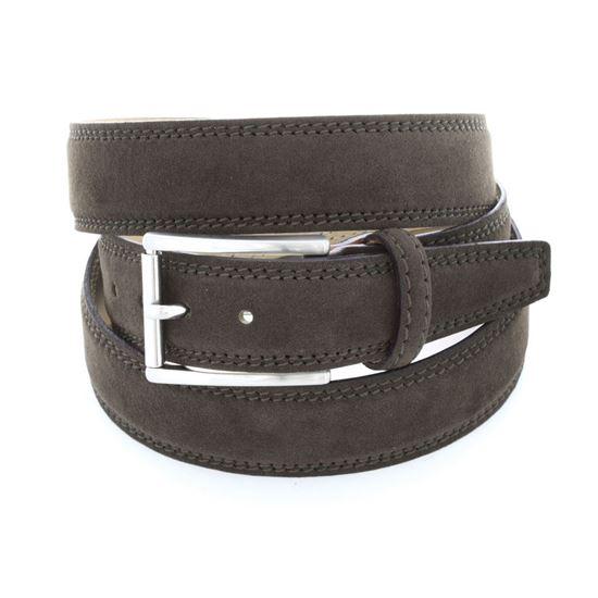 Picture of Dark Brown Alcantara Belt - 3 cm. wide