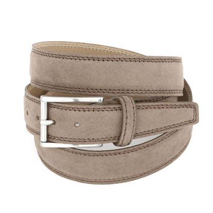 Picture of Dove Brown Alcantara Belt - 3 cm. wide