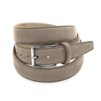 Picture of Dove Brown Alcantara Belt - 3,5 cm. wide