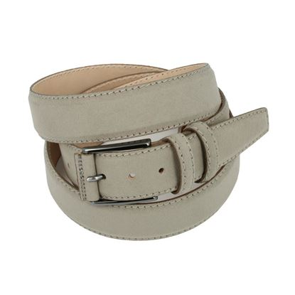 Picture of Dove Brown Alcantara Belt - Double Loops - 3,5 cm. wide
