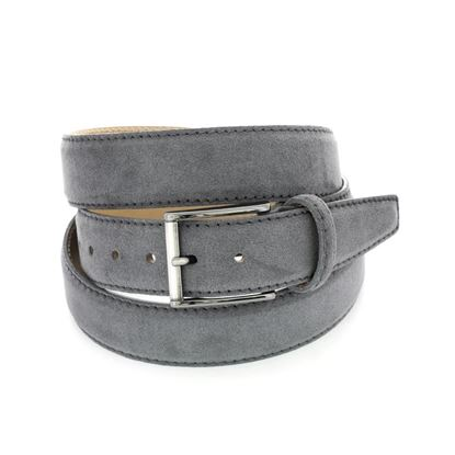 Picture of Grey Alcantara Belt - 3,5 cm. wide