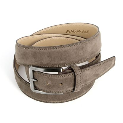 Picture of Mid Brown Alcantara Belt - 3,5 cm. wide