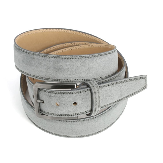Picture of Mid Grey Alcantara Belt - 3,5 cm. wide