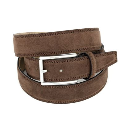 Picture of Nut Alcantara Belt - 3 cm. wide