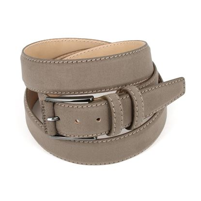 Picture of Nut Alcantara Belt - Double Loops - 3,5 cm. wide