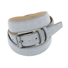Picture of Pearl Grey Alcantara Belt - Double Loops - 3,5 cm. wide