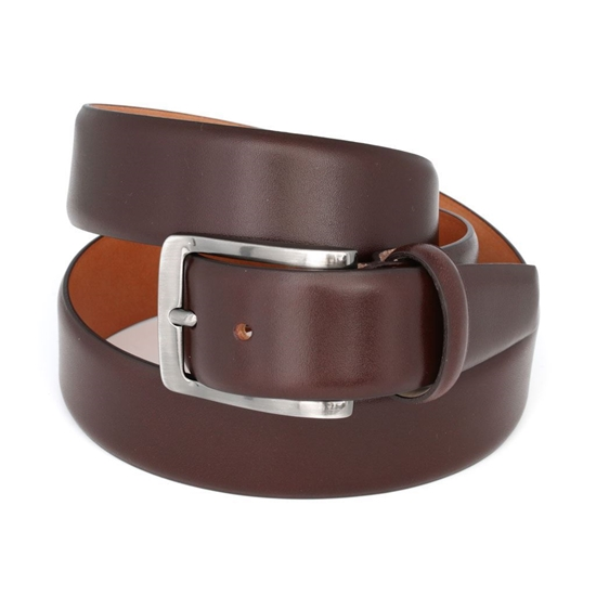 Picture of Dark Brown Smooth Welded Calf Leather Belt - 3,5 cm. wide